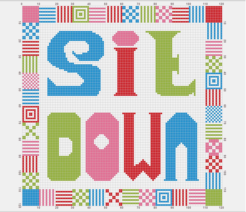Supersized-cross-stitch- cushion- pattern