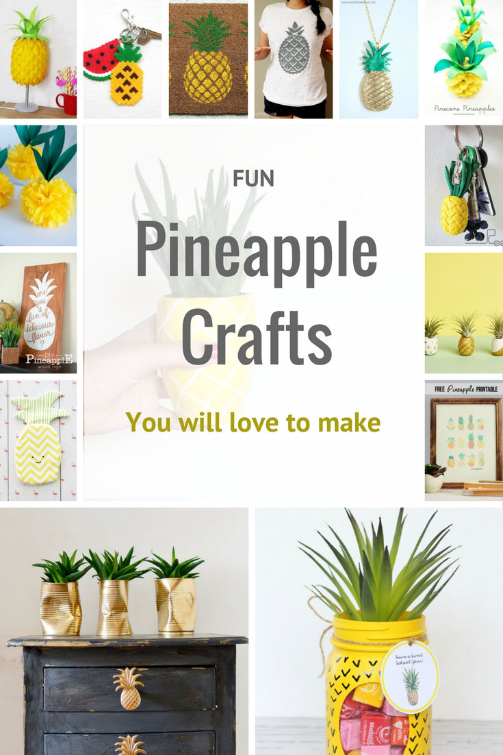 Pineapples are the king of fruits. Here are 25 of the most fun Pineapple Crafts you will love to make.