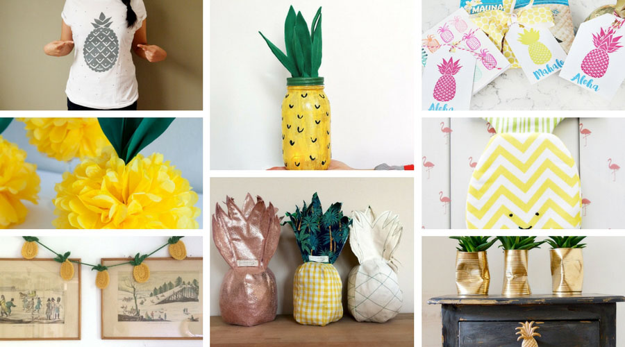 Fun Pineapple Crafts Projects You Will Love To Make Pillar Box Blue