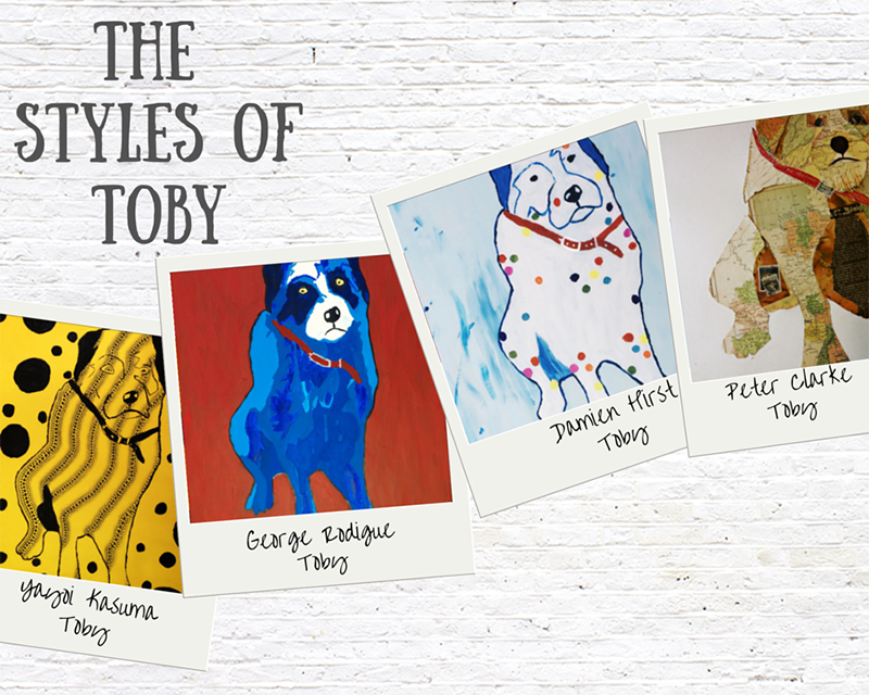 The Artistic styles of Toby the dog