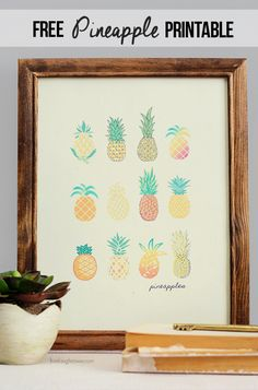 free pineapple crafts