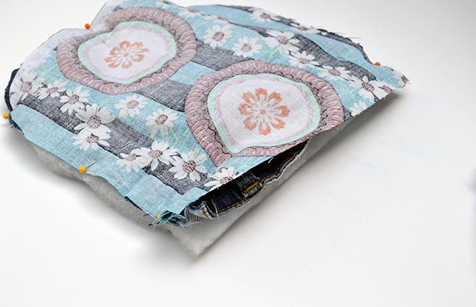 fabric jean sandwhich