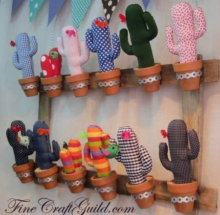 DIY Cactus diplays fincraftguild
