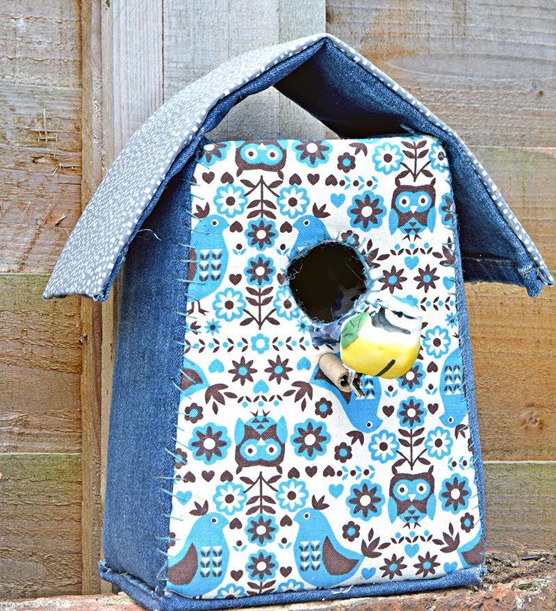 Denim Birdhouse pillarboxblue.com