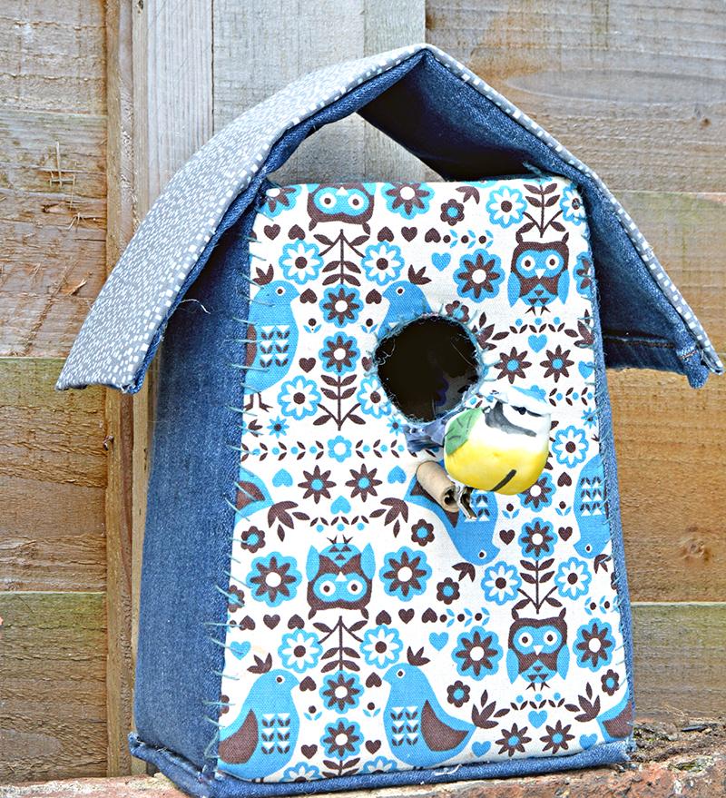 Denim Birdhouse pillarboxblue.com
