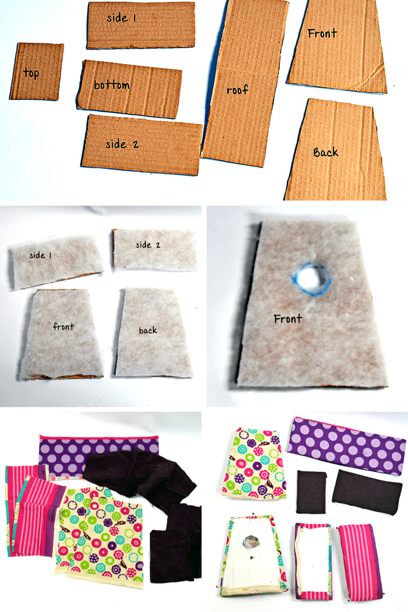 Fabric Birdhouses instructions 1