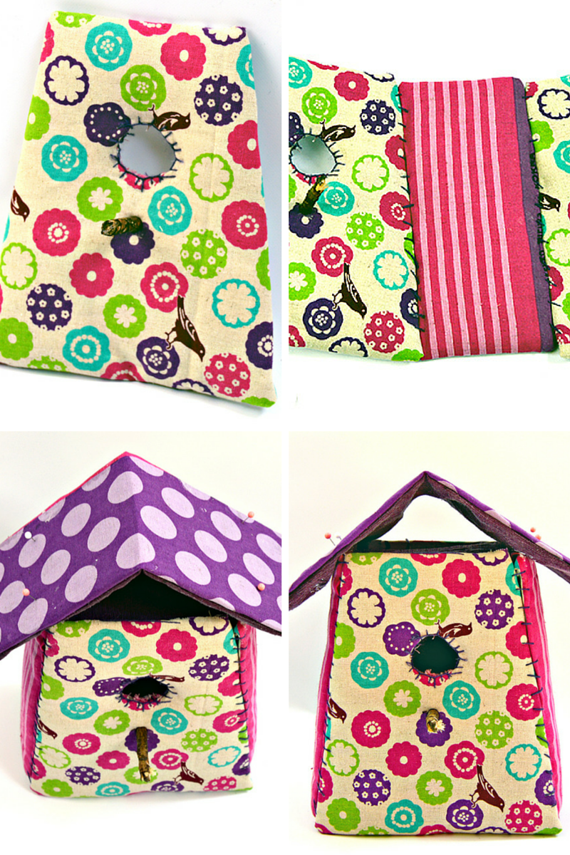 Fabric birdhouse instructions pillarboxblue.com