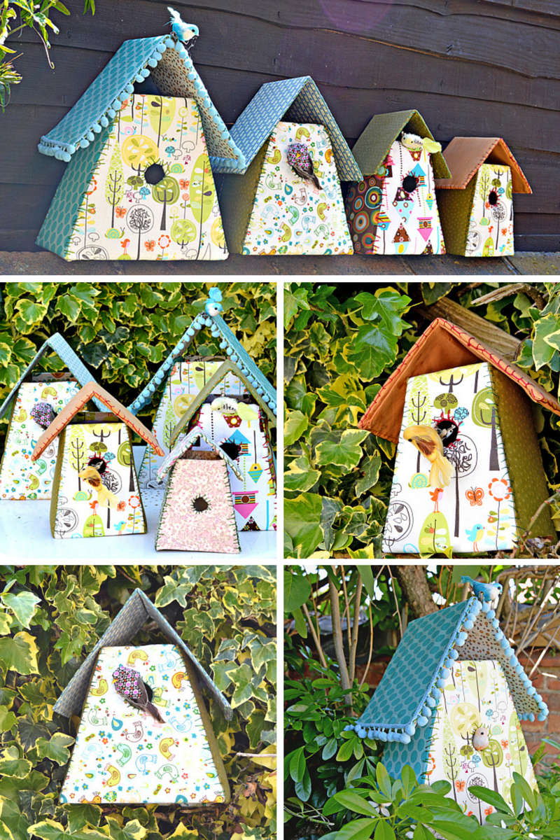 How To Make Gorgeous Fabric Birdhouses For Your Home