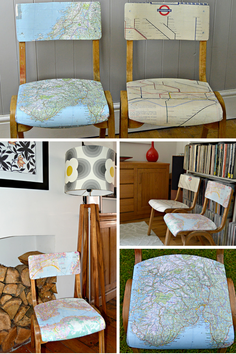How To Make Personalised Map Chairs Pillar Box Blue