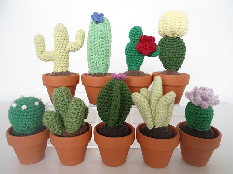 Mini Crochet Cacti migogmaya.blogspot.dk