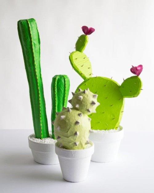paper mache cactus designsponge