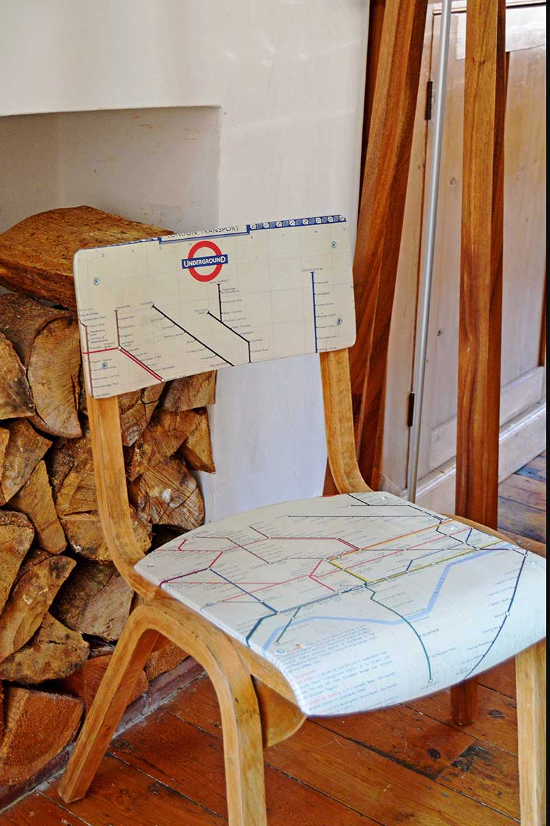 London tube map chair