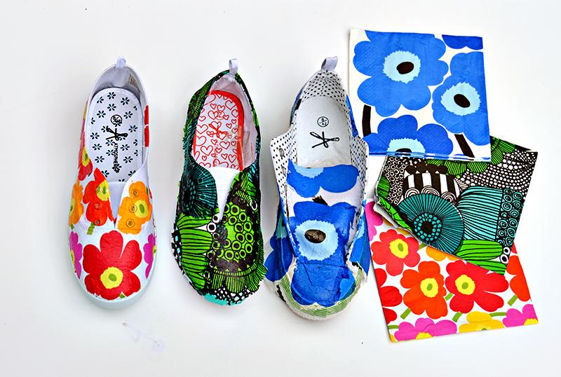DIY Marimekko Shoes