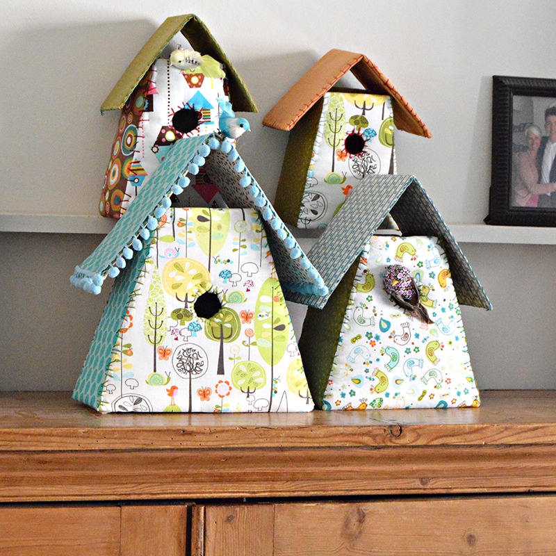 Fabric- Birdhouses- pillarboxblue.com