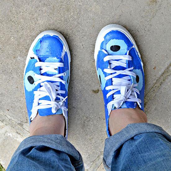 DIY Marimekko Shoes concrete GL