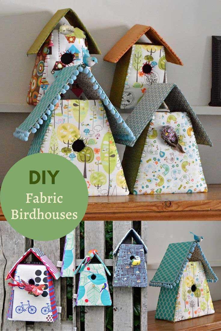 Handmade decorative birdhouses