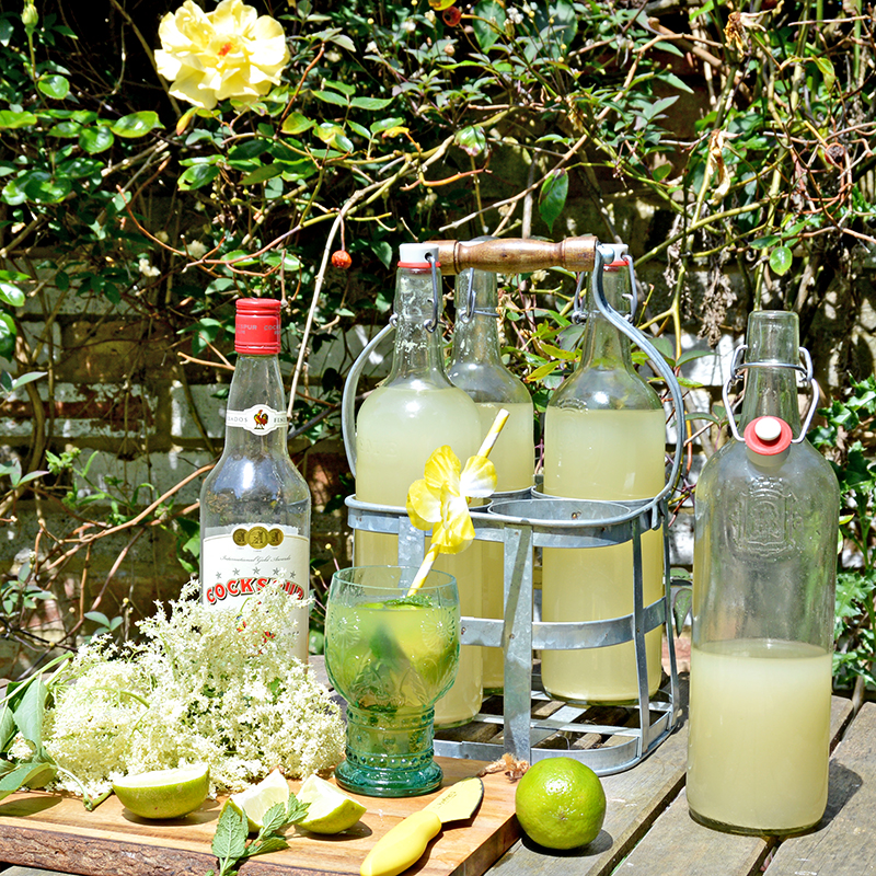 Elderflower champagne mojito2