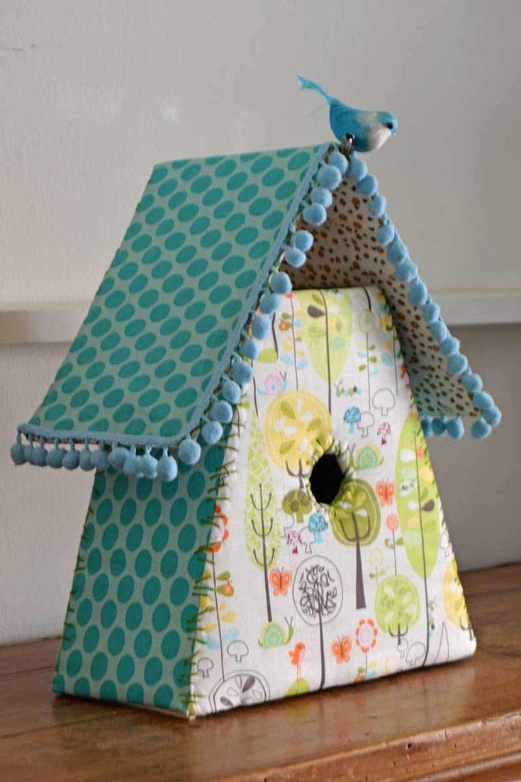 decorative Fabric birdhouses
