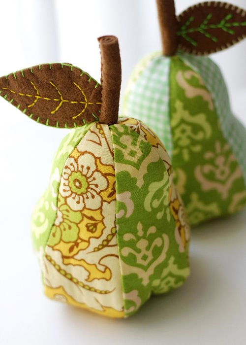 Fabric Pear Pin cushion