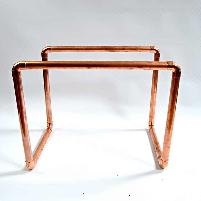 Copper frame for magazine rack
