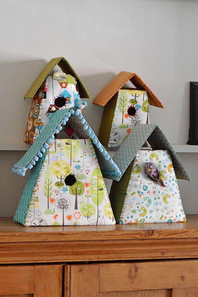 Fabric birdhouses