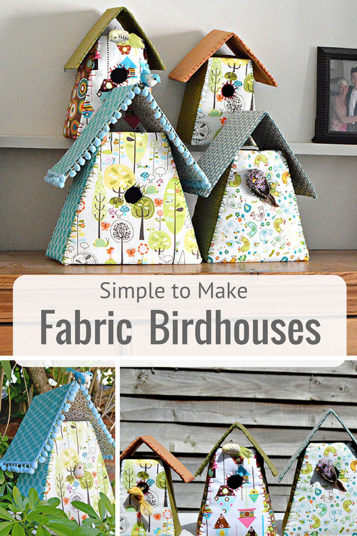 How To Make Gorgeous Fabric Birdhouses For Your Home Pillar Box Blue