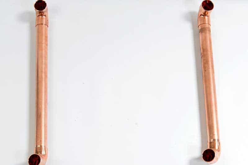 U base copper pipes