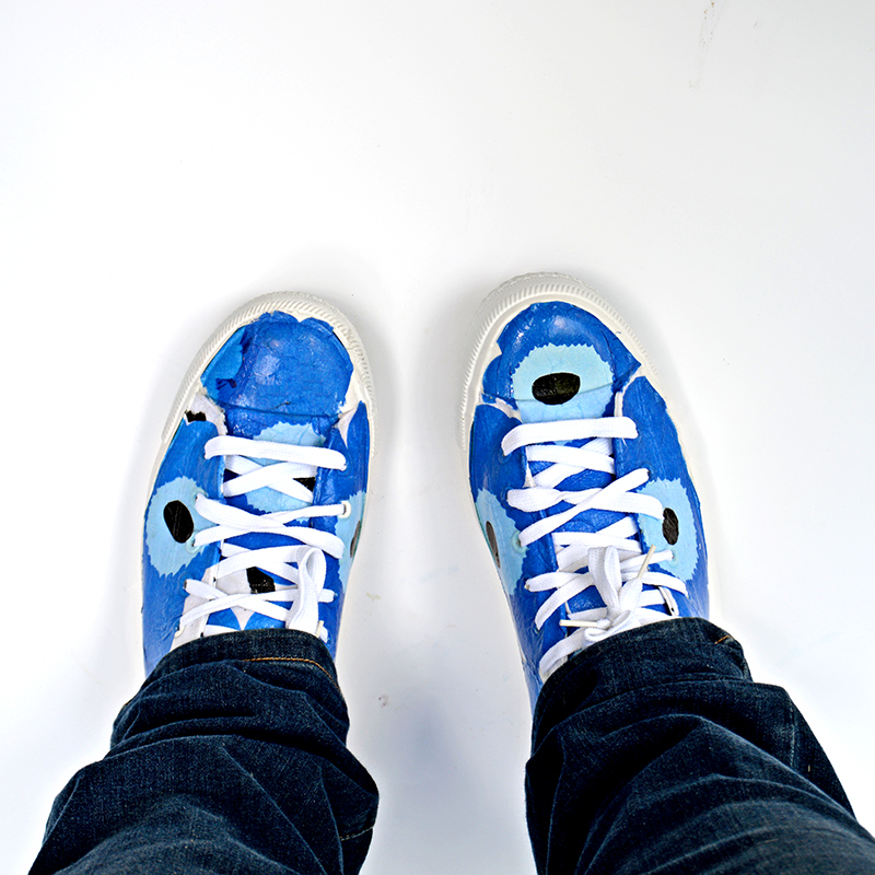 DIY Marimekko Unikko Shoes