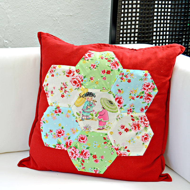 Hexagon Patchwork Cushion