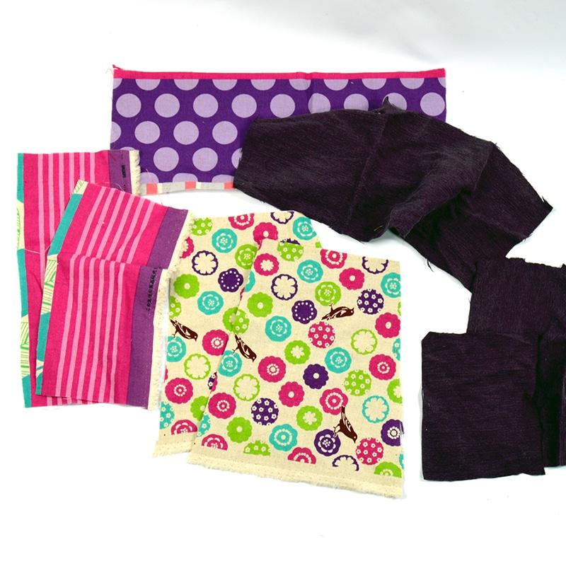 Cut fabric strips