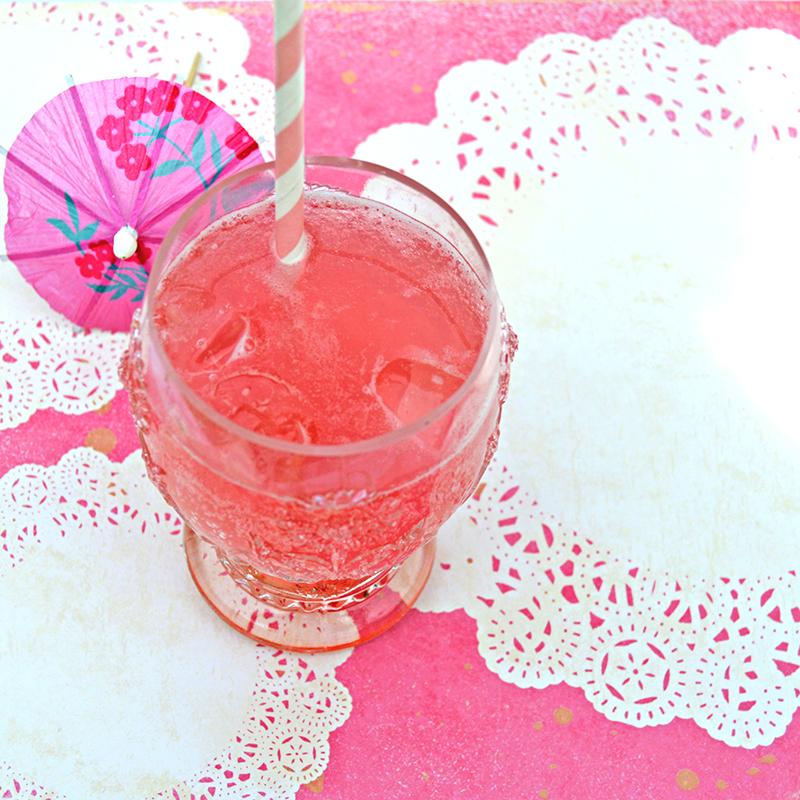 rhubarb gin fizz doilie