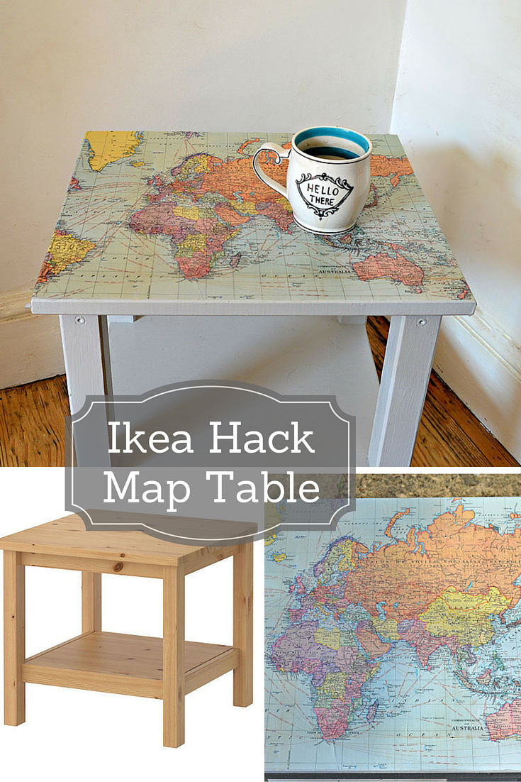 how to make a map table an ikea hack pillar box blue. Black Bedroom Furniture Sets. Home Design Ideas