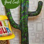 Marimekko Giant Paper Mache Cactus