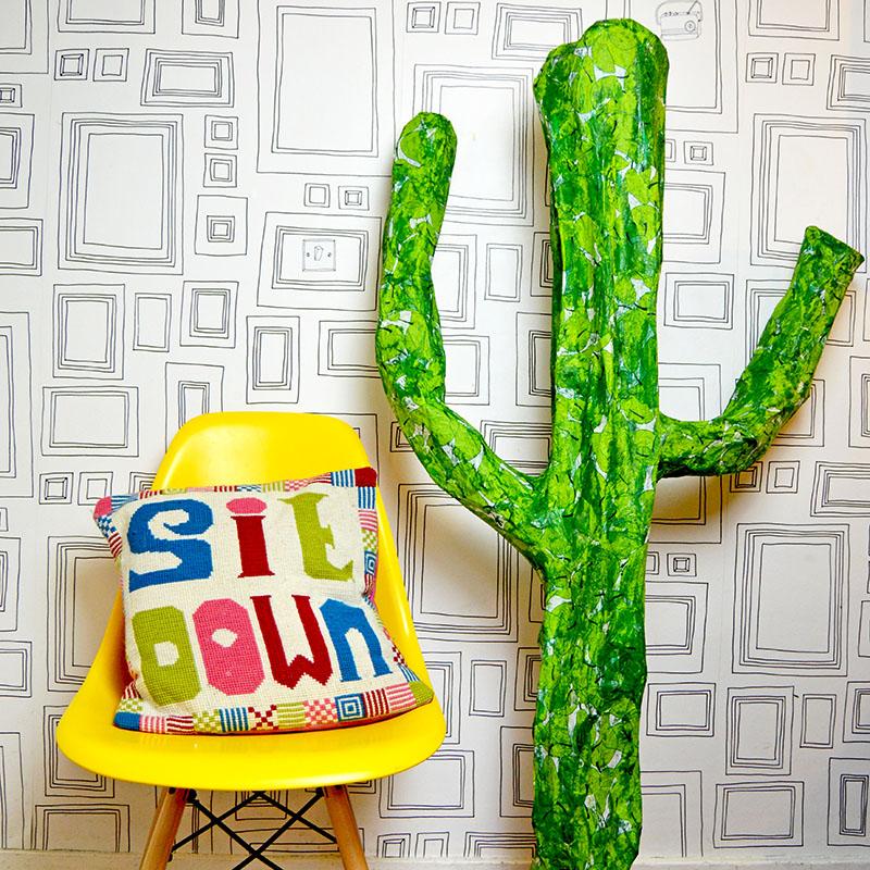 Paper mache Cactus