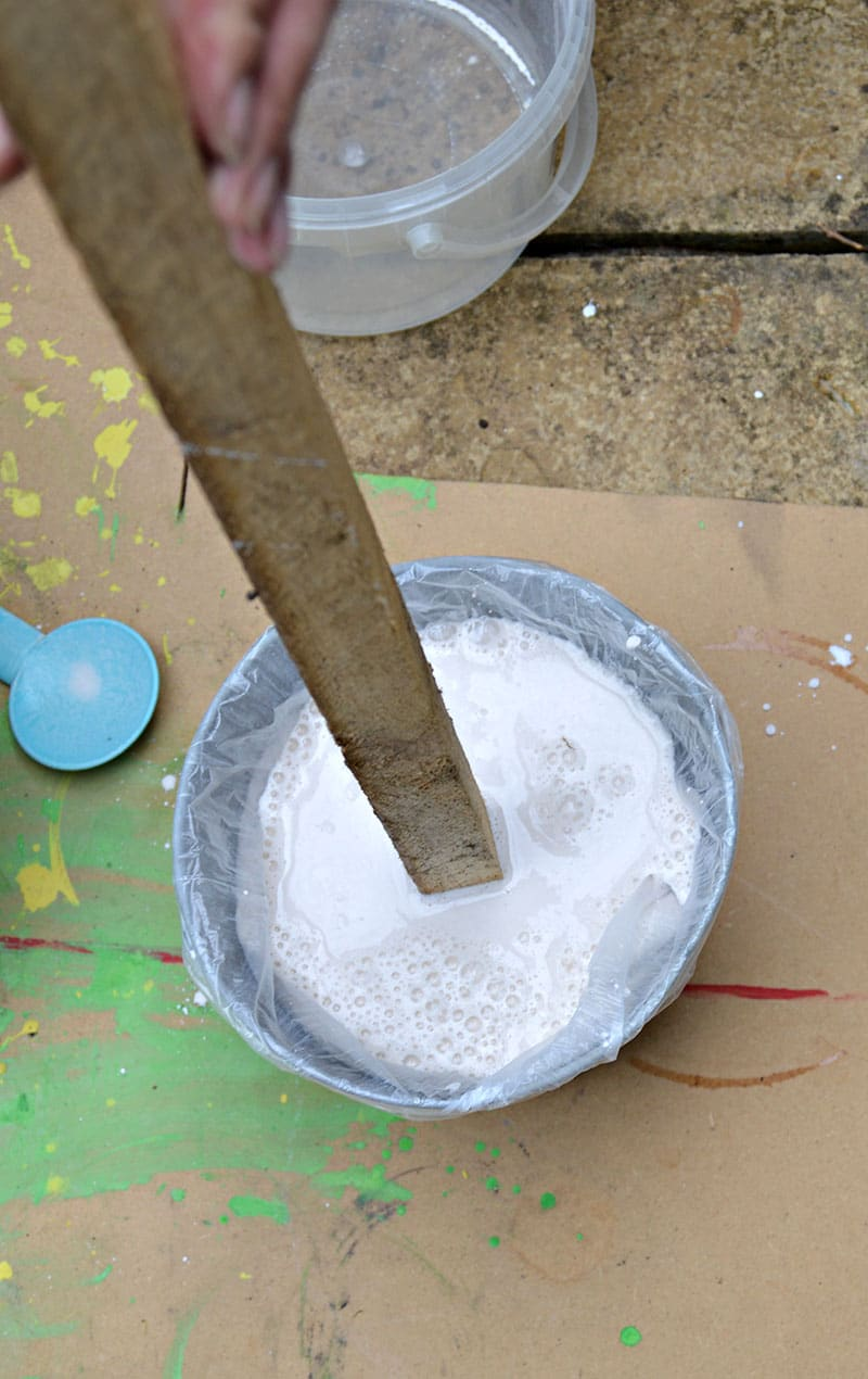 stick in plaster of paris