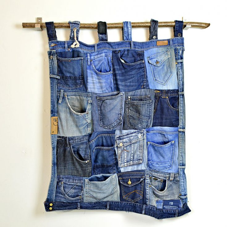 Denim Pocket Wall Organiser