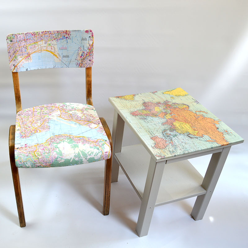 Map table & chair pillarboxblue.com