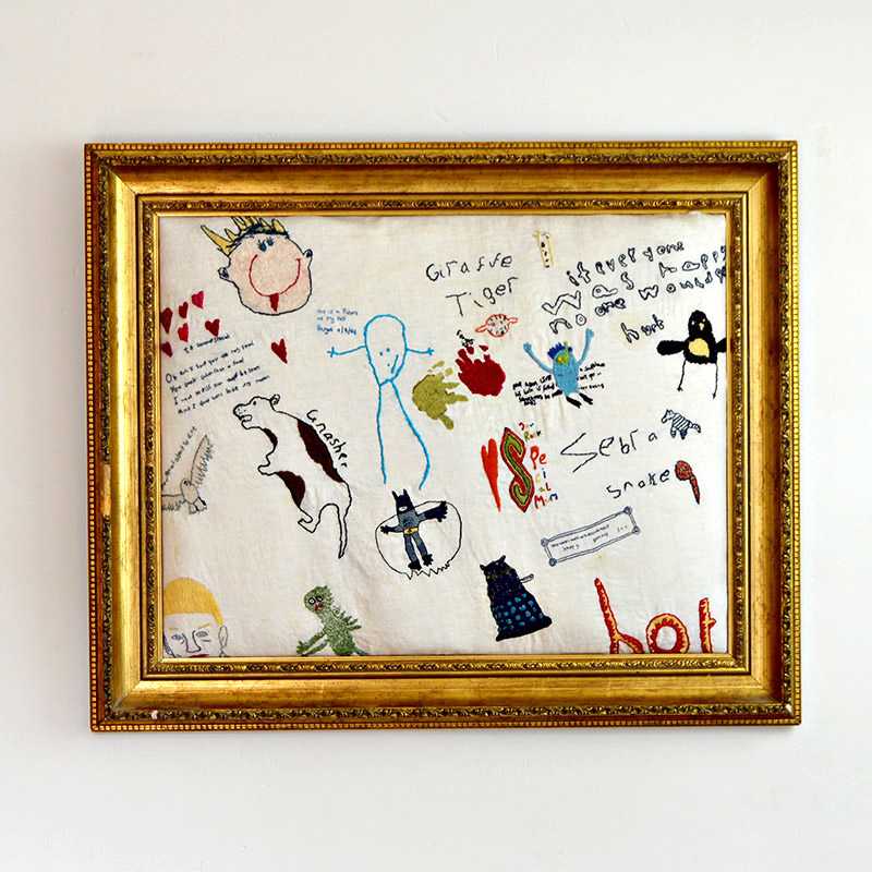 Embroidered childrens art