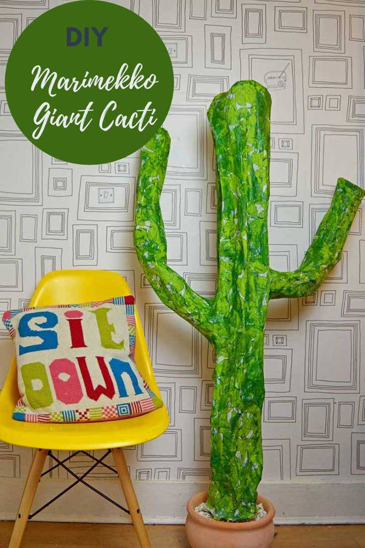 Giant Paper Mache Cacti