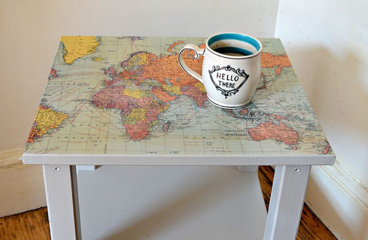 How to Make a  Map Table an IKEA Hack