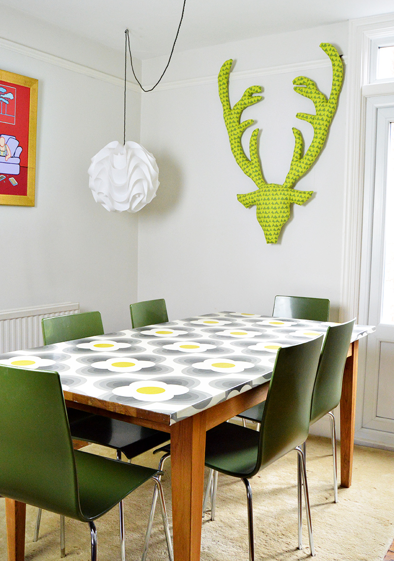Ideas for upcycling with wallpaper - Tables, lamps, Mirrors and includes BIn tutorial