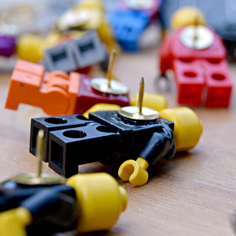 Lego Figure Push Pins _Pillarboxblue