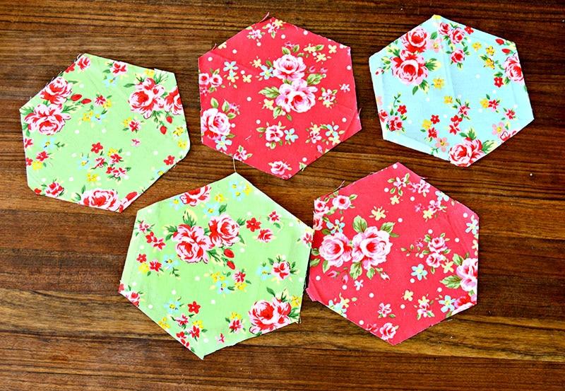 cut hexagon fabrics