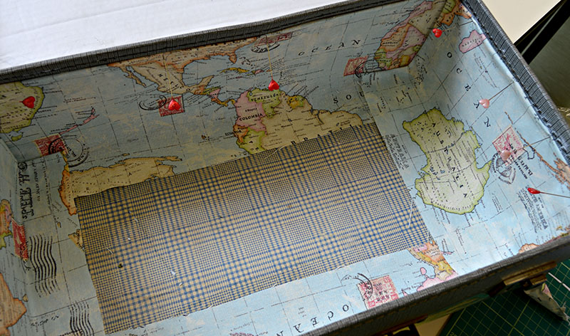 gluing the map down