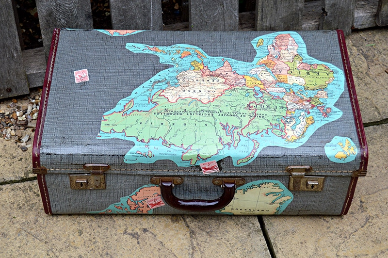 outside of finished map suitcase