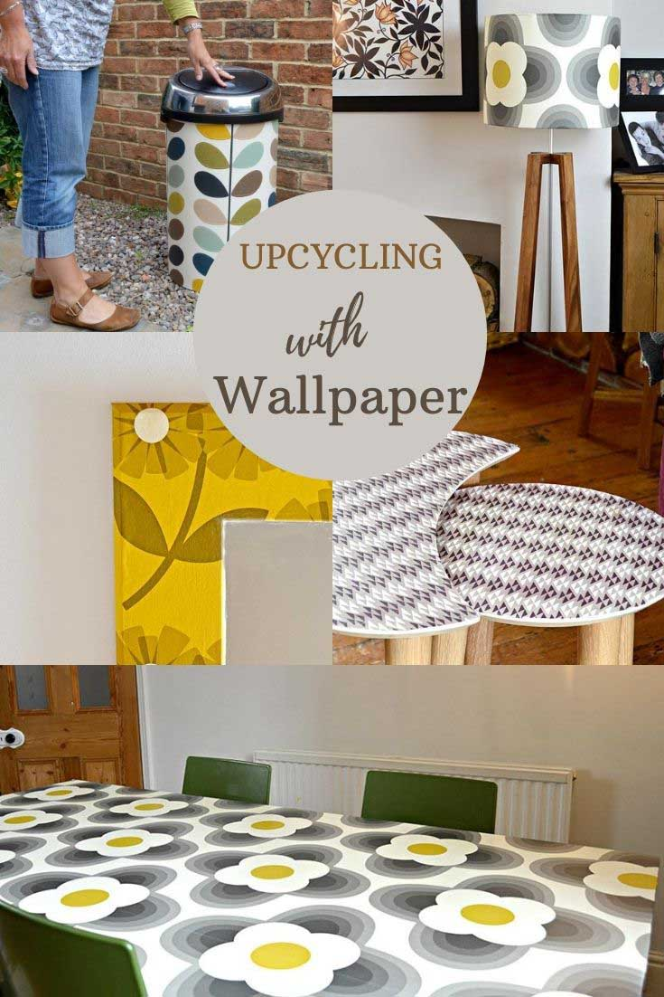 upcycling with wallpaper ideas