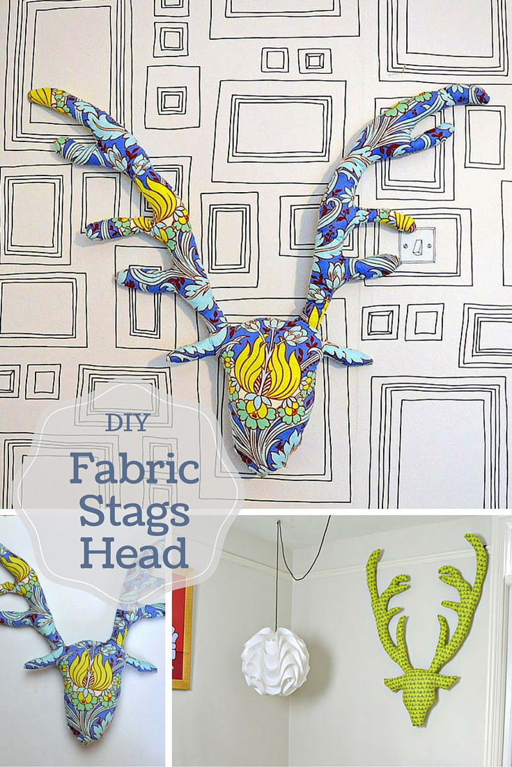 This DIY fabric stags head makes for a great decoration, you can choose a fabric to suit your decor.  They also make a great gift.  Free tutorial and pattern.
