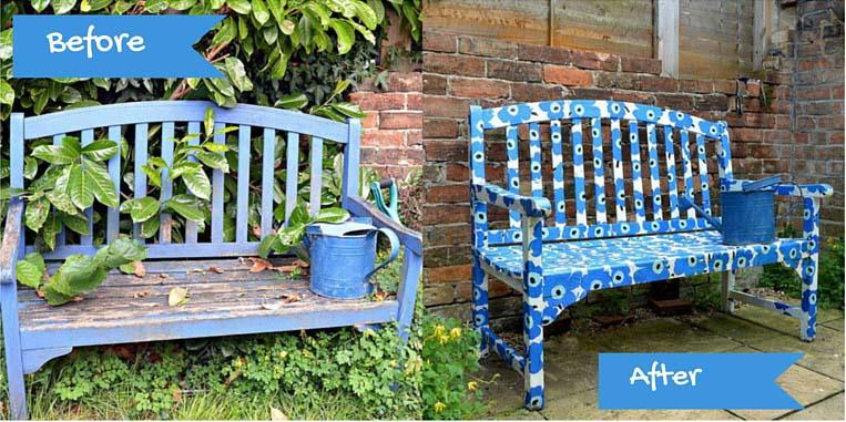 DIY Marimekko Bench