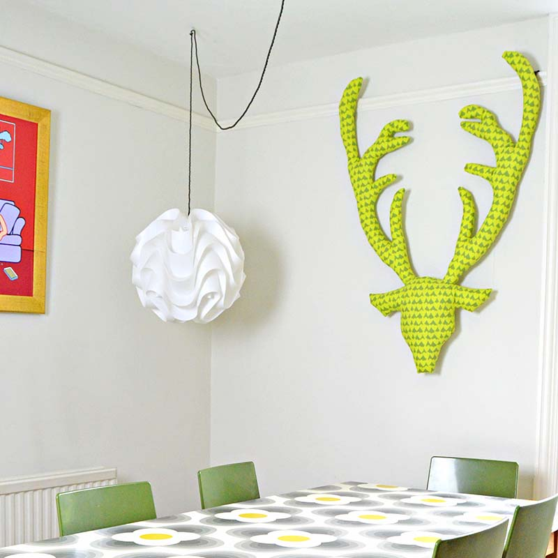 Fabric Stags Head