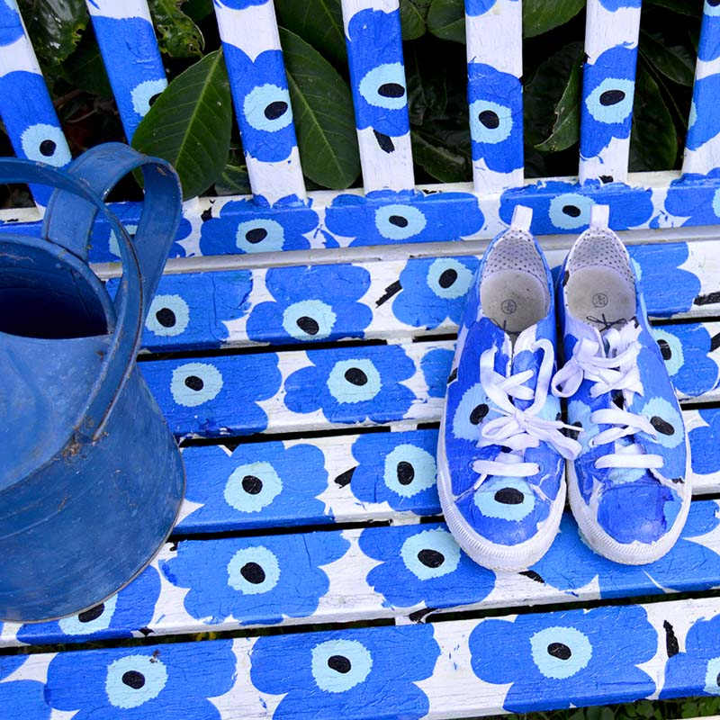 Marimekko Bench and shoes